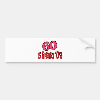 60 es los 6 años 10 perfectos (el ROSA) Pegatina Para Auto