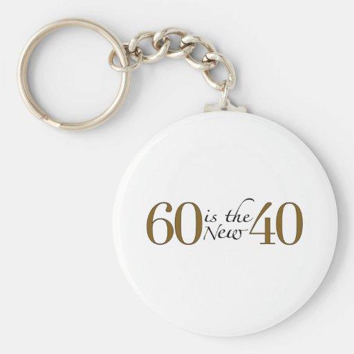 60 es los nuevos 40 llavero redondo tipo pin