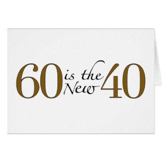 60 es los nuevos 40 tarjeta de felicitación