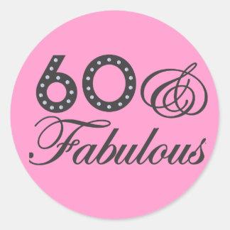 60 & Fabulous! Classic Round Sticker