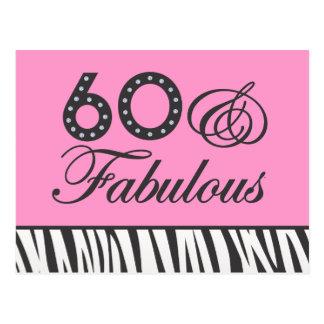 60 & Fabulous! Postcard