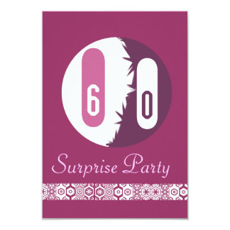 """60. geburtstag invitación 3.5"""" x 5"""""""