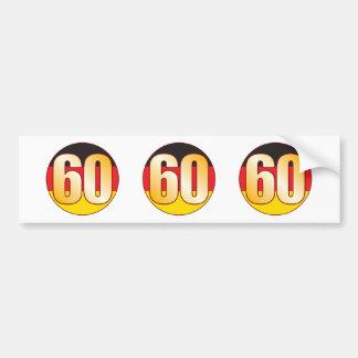 60 GERMANY Gold Bumper Sticker