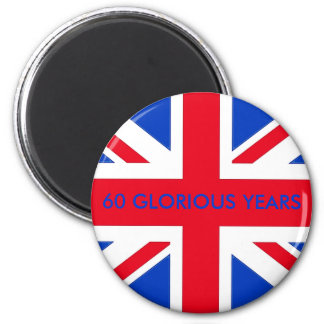 60 GLORIOUS YEARS 2 INCH ROUND MAGNET