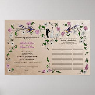 60 guests Quaker Wedding in summer - rose, rose Poster