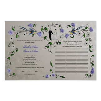 60 guests Quaker Wedding in Summer - silver Poster