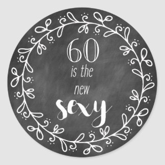 60 is the new Sexy - 60th Birthday Custom Stickers
