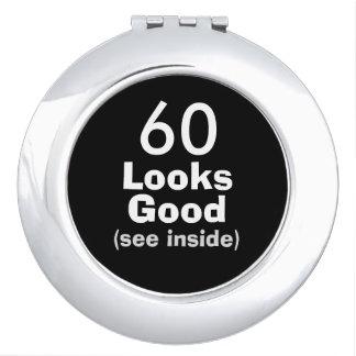 60 Looks Good © Funny 60th Birthday Gag Gift Vanity Mirror