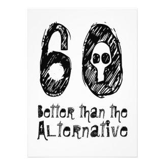 60 mejor que el cumpleaños divertido Q05 de la Invitaciones Personales