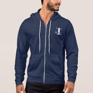 $60 Men Navy Blue Better Zip Hoodie - H&L