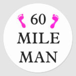 60 mile man CAPS 2 feet Stickers