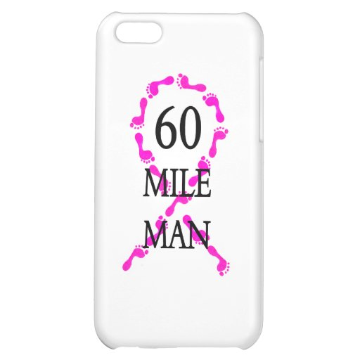 60 mile man pink ribbon feet case for iPhone 5C