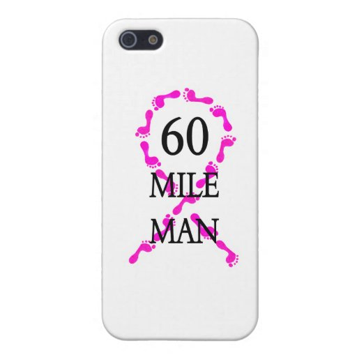 60 mile man pink ribbon feet cover for iPhone 5