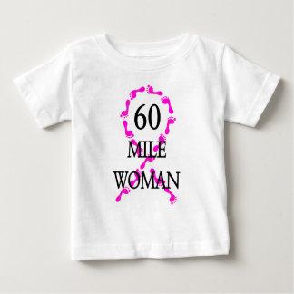 60 mile woman feet ribbon baby T-Shirt