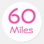 60 Miles Stickers