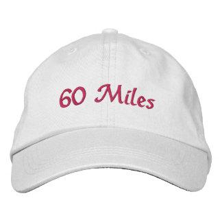 60 millas de gorra gorra bordada