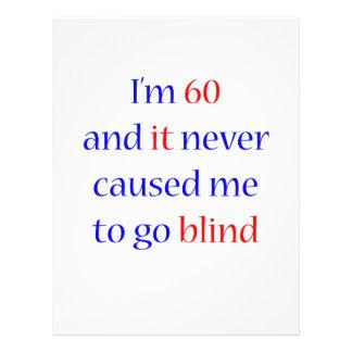 """60 Never gone blind 8.5"""" X 11"""" Flyer"""