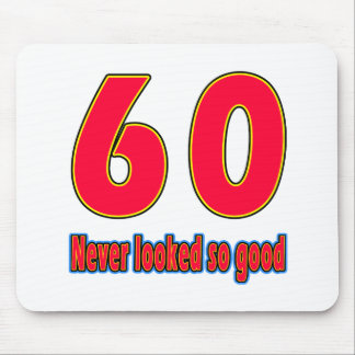 60 never looked so good birthday designs mousepad