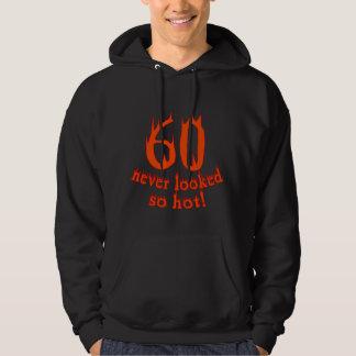 ¡60 nunca parecido tan caliente! jersey encapuchado