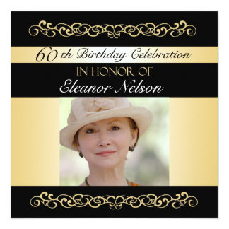 """60.o-69.o Invitaciones de la fiesta de cumpleaños Invitación 5.25"""" X 5.25"""""""