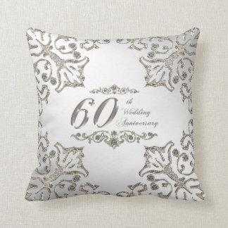 60.o Almohada de tiro del aniversario de boda