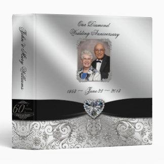 """60.o Aniversario de boda 1,5"""" carpeta de la foto"""