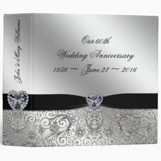 """60.o Aniversario de boda de diamante 2"""" carpeta"""