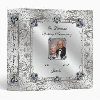 "60.o aniversario de boda elegante 1,5"" carpeta de"