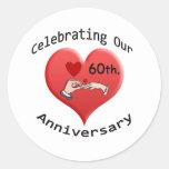 60.o. Aniversario de boda Etiquetas