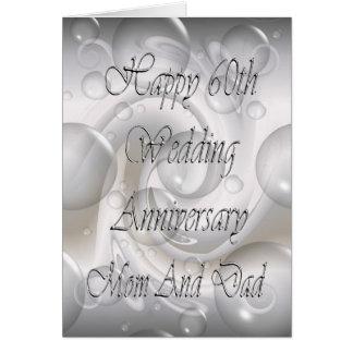 60.o Aniversario de boda para la tarjeta de la mam