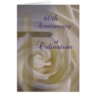 60.o Aniversario de la ordenación Tarjeta De Felicitación