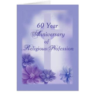 60.o Aniversario de la profesión religiosa, monja Tarjeta De Felicitación