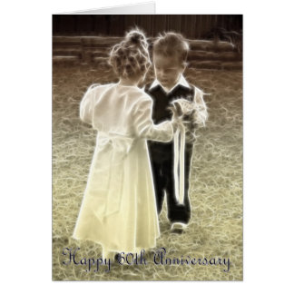 60 o Aniversario feliz del aniversario de boda Felicitaciones