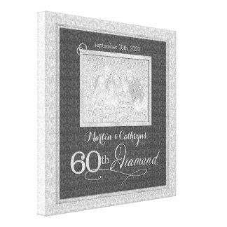 60.o aniversario - foto personalizada 11x11 impresión en lienzo