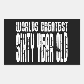 60.o Años más grandes del mundo del cumpleaños 60  Rectangular Altavoz