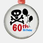 60.o Bandera pirata del cráneo del cumpleaños Ornamentos De Reyes