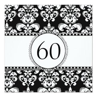 60.o blanco de la invitación el | del cumpleaños