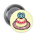 60.o Botón de la fiesta de cumpleaños Pins
