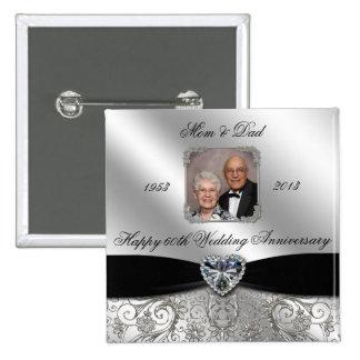 60.o Botón de la foto del aniversario de boda