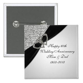 60.o Botón del aniversario de boda Pins
