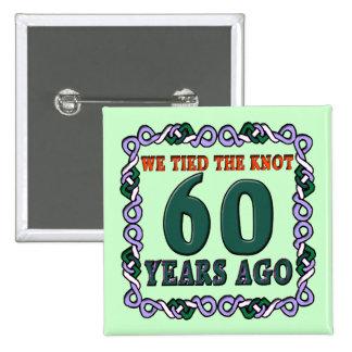 60.o Botón del aniversario de boda