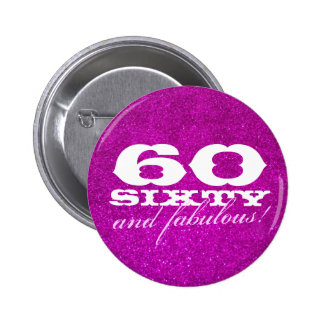 60.o botón del cumpleaños para el falso brillo ros pin redondo de 2 pulgadas