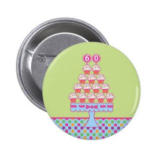 60.o Botón del cumpleaños Pins