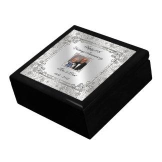 60.o Caja de regalo de la foto del aniversario de  Joyero Cuadrado Grande
