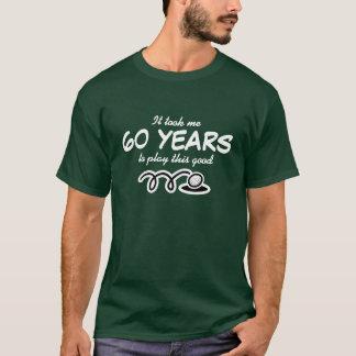 60.o Camisa del cumpleaños para el chiste del golf