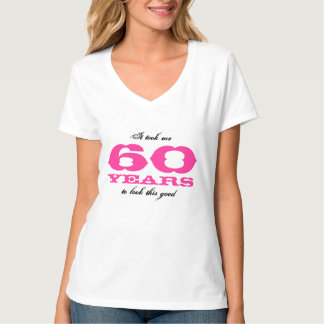 60.o Camisa del cumpleaños para la edad personaliz