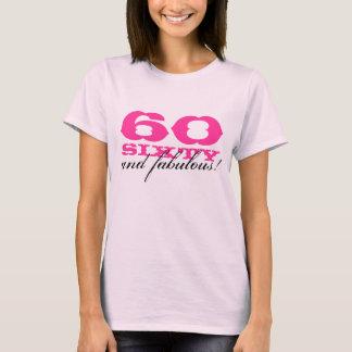 60.o ¡Camisa el   60 del cumpleaños y fabuloso! Playera
