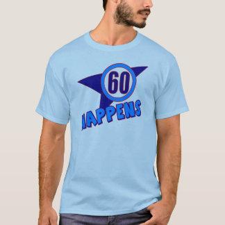 60.o Camiseta de los regalos de cumpleaños