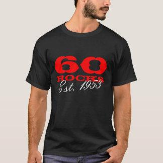 60.o Camiseta el   del cumpleaños 60 rocas Est.