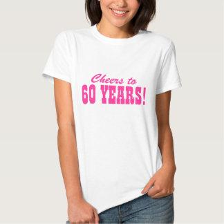 60.o Camisetas de la fiesta de cumpleaños para las Playera